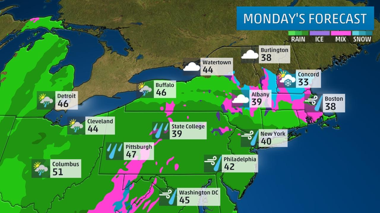 Noreaster Monday Forecast