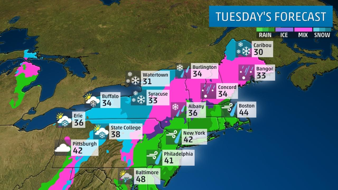Noreaster Tuesday Forecast
