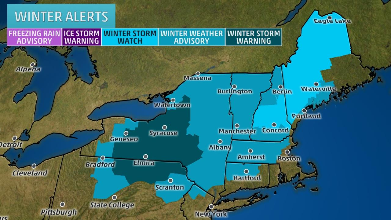 Noreaster Winter Weather Alerts
