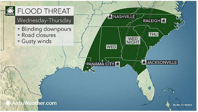 Severe Storms, Flash Flooding Predicted for Gulf Coast and Southeast