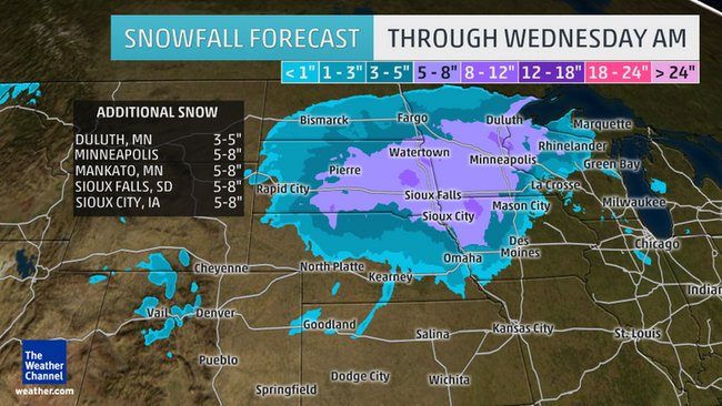 Winter Storm Delphi To Bring More Snow to Northern Plains, Upper Midwest