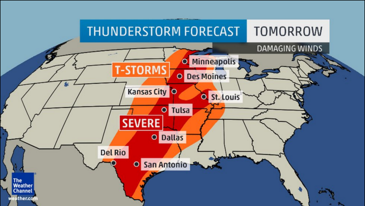 Severe Thunderstorms, Heavy Rain Return to Plains and Midwest