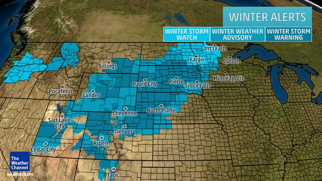 Winter Storm Echo To Spread Heavy Snow From Rockies to Northern Plains