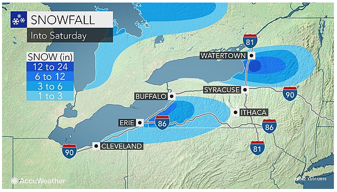 Up to One Foot of Snow Predicted for Great Lakes Region
