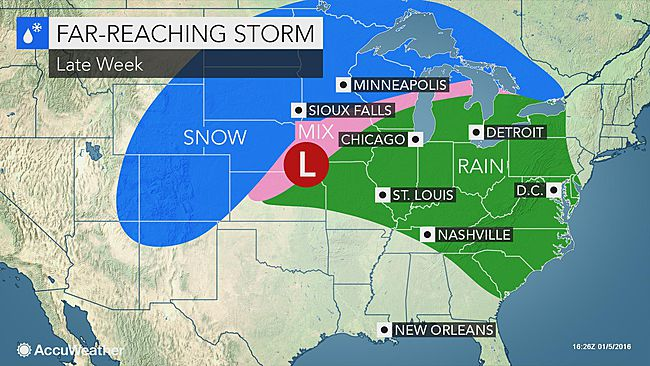 Winter Storm Forecast for Central and Eastern States