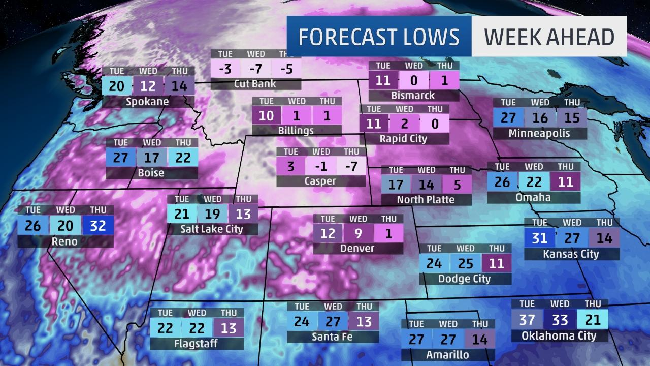 First arctic blast for lower 48