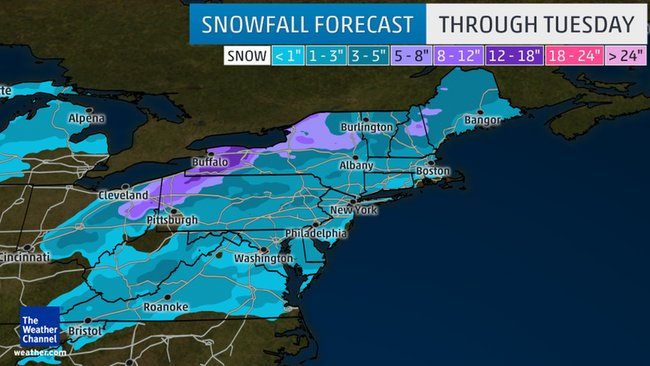 Winter weather to affect the Mid-Atlantic and Northeast