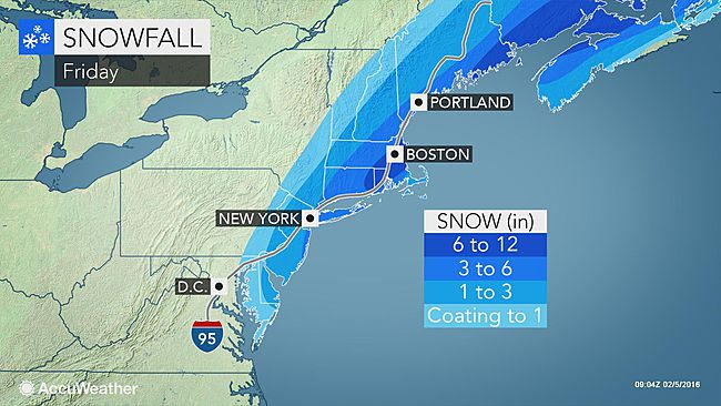 Snowstorm to affect coastal Northeast