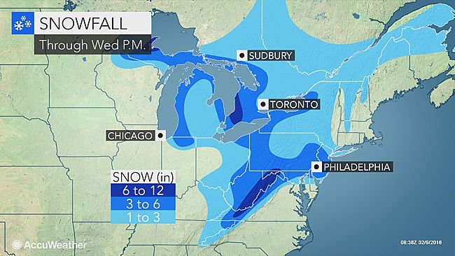 More snow for the Mid-Atlantic, heaviest to fall in the Appalachian mountains
