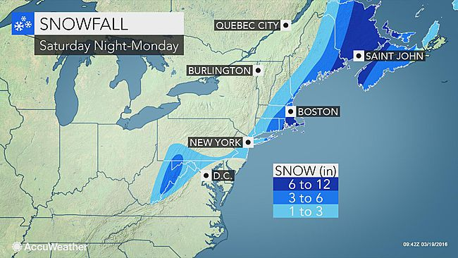 Possible Nor'easter conditions forecast for Northeast, Mid-Atlantic