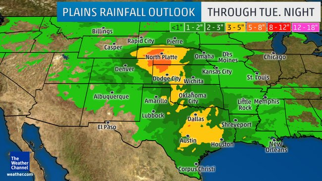 Flash flood threat predicted for plains