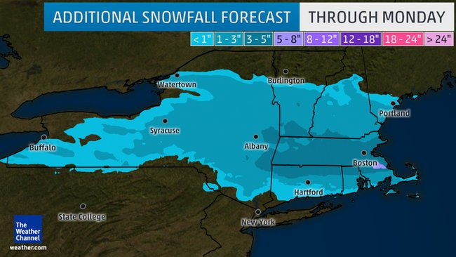 Snow and cold temperatures to continue in Northeast