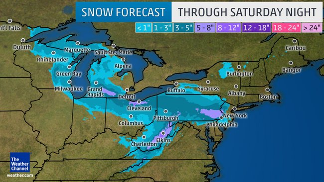 More April Snow for Midwest and Northeast