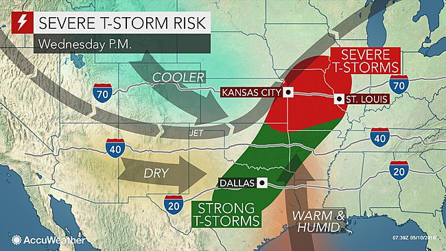 More severe thunderstorms for Central US