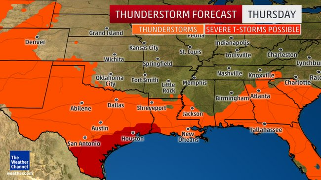 Severe thunderstorms for western gulf