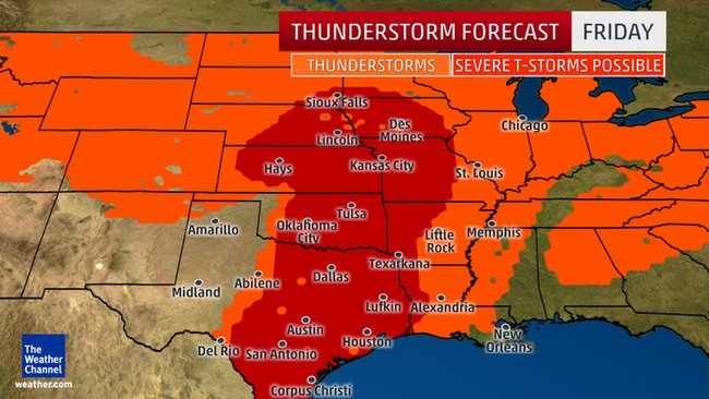 Central U.S. Severe Weather Continues