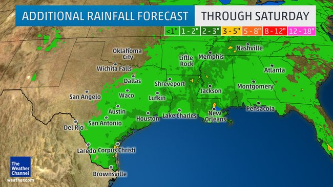 More Locally Heavy Rain For Flood-Weary Texas