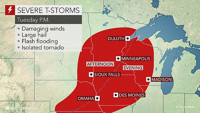 Multiple rounds of severe thunderstorms forecast for Plains and Midwest