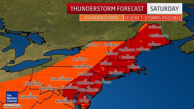 Severe storms to affect Northeast this weekend