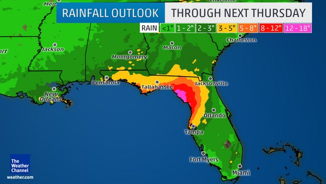 Heavy rain coming to Southeast