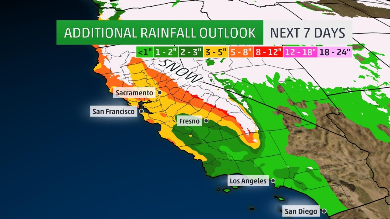 Atmospheric rivers target West Coast