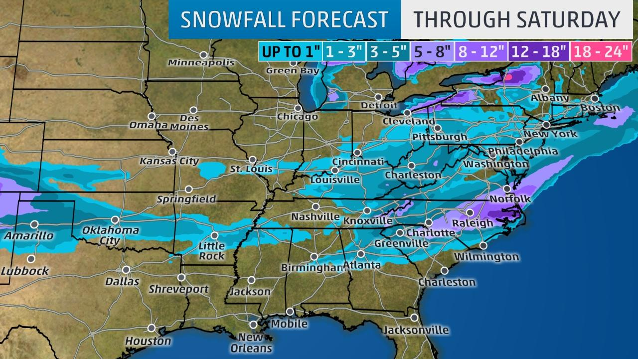 Winter storm Helena to affect eastern half of U.S.