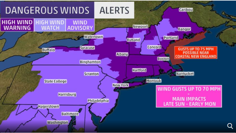 Powerful storm to affect East Coast