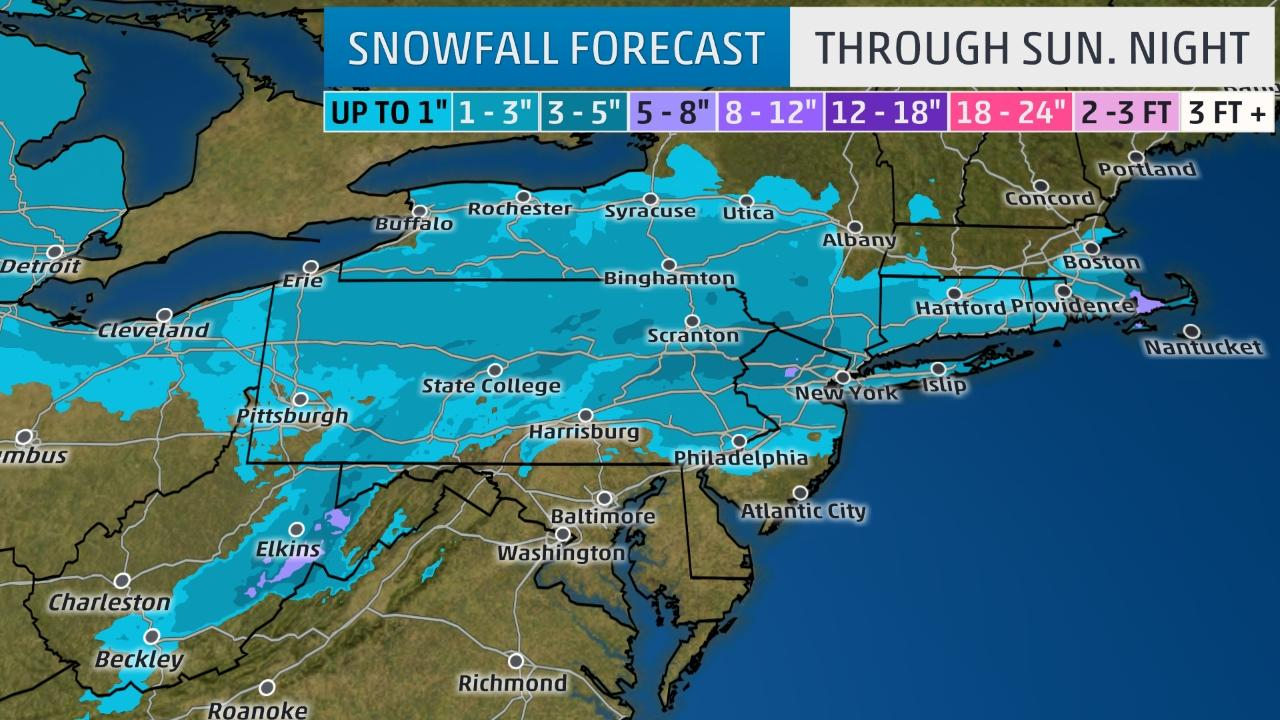 More snow forecast for Midwest, Northeast