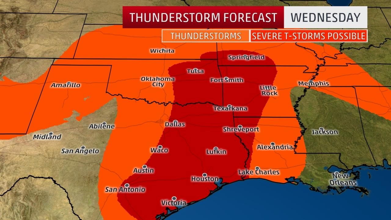 Severe weather for Central U.S. this week