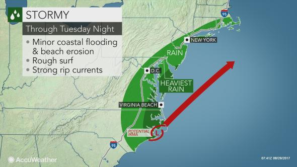 Potential Tropical Cyclone 10 moving near Carolinas